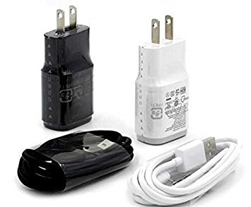 OEM Asus ZenFone 3 Laser Compact 1.8A Wall Charger with 3ft MicroUSB Charing and Data Cable! (White / 110-240v)