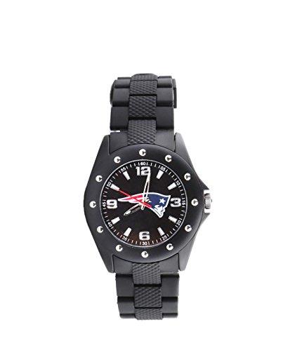 England Patriots Breakaway Triple Black' Quartz Metal and Polyurethane Casual Watch, Color:Black (Model: NFL-BKA-NE) ()