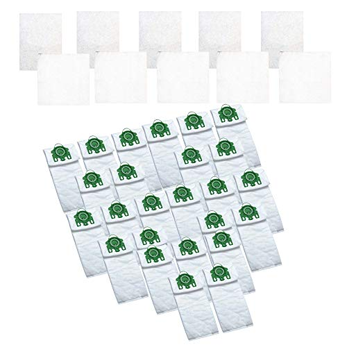 Think Crucial 25 Replacement for Miele U HEPA Style Cloth Bags & 10 Micro Filters, Compatible with Part # - Cloth Bag Replacement