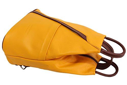 AMBRA Moda dos portés Gelb femme 2 Sacs x6Hx4nAB