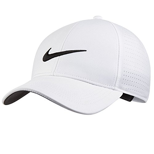 (NIKE Unisex AeroBill Legacy 91 Perforated Golf Cap, White/Anthracite/Black, One Size)