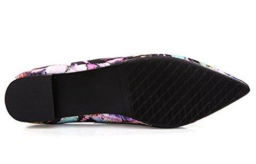 2016 nuevos zapatos casuales de cuero zapatos de mujer boca poco profundas de la primavera de punta plana con una sola zapatos 2