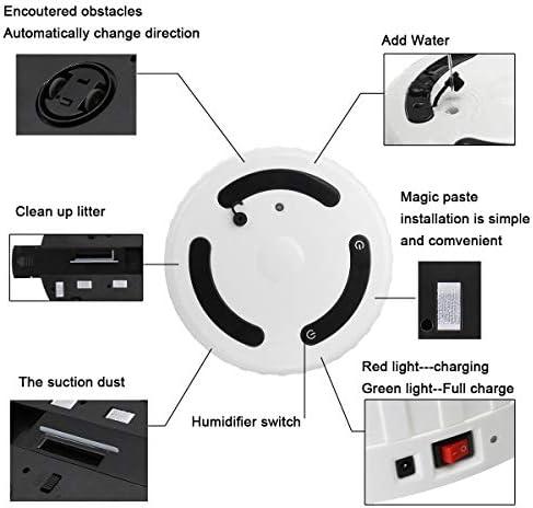 MIMI KING 3 dans 1 Smart Balayer Robot Automatique Humidifier Aspirateur Forte Aspiration à Sec Humide Propre Robot avec Humidifier Appareils électroménagers