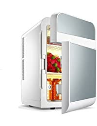Mini Fridge, ECVILLA 2 Door Compact Refrigerator Cooler and Warmer (20 Liter) for Home Office Car or Boat - 12V DC and 110V AC (Silver)