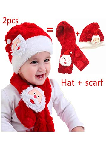 Damier Red Warm Christmas snata Hats Scarf for Lovely for sale  Delivered anywhere in USA
