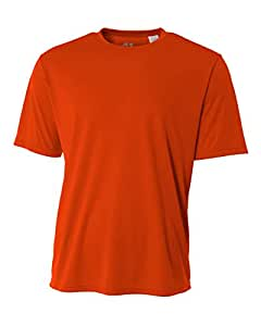 A4 Men's Cooling Performance Crew Short Sleeve, Athletic Orange, Small