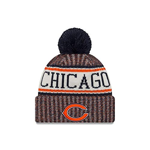 New Era Chicago Bears NFL 18 Sideline Sport Knit Hat Orange/Navy/White Size One Size