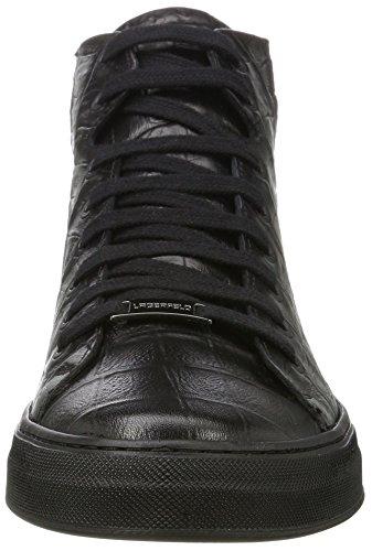 Karl Lagerfeld High Top, Sneaker a Collo Alto Uomo Nero (Nero)