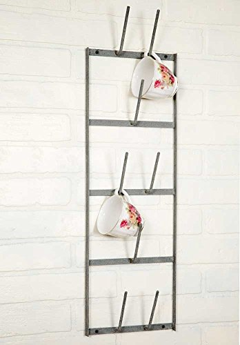 "Narrow Wine Bottle Dryer Wall Rack, Gray, 8"" x 4"" x 27"""