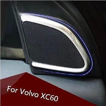 Para Volvo XC60 Stereo anillo plattieren Cuatro Altavoces HELLERMANN Marco dekorrahmen Convertir Audio 304 Acero Inoxidable: Amazon.es: Coche y moto