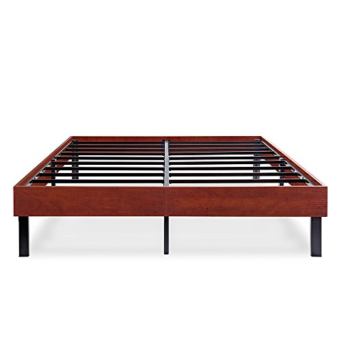 Olee Sleep Wood Platform Bed Frame/Steel Slat support, 14''H