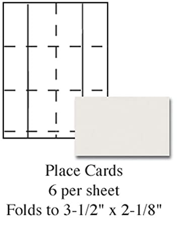 Amazon.com : Ivory Printable Placecards - Pack of 60 : Other ...