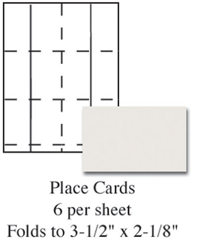 ivory printable placecards pack of 60