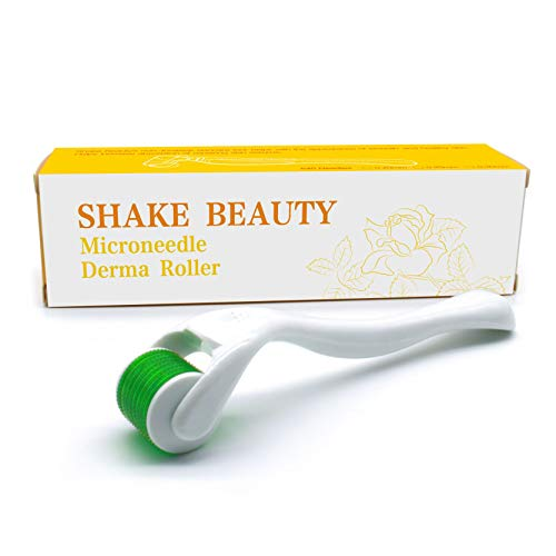 Derma Roller Cosmetic Needling Instrument For Face, Titanium Micro Needles (0.3 Millimeter Needle Length) - Includes Storage Case