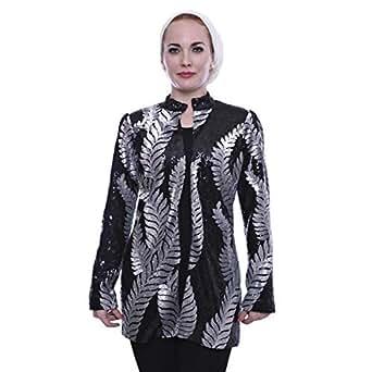 Hamsaalbaridi Black Wool Basic Jacket For Women