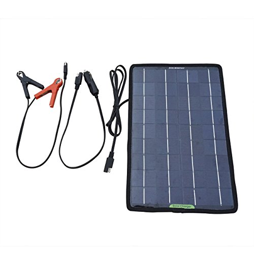 ECO-WORTHY 12 Volts 10 Watts Portable Power Solar Panel Backup for Car Boat with Alligator Clip Adapter by ECO-WORTHY