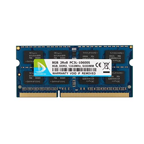 DUOMEIQI 8GB DDR3 1333MHz SODIMM RAM PC3-10600, PC3-10600S for Intel AMD Laptop, MacBook Pro 13 inch /15 inch /17 inch Early/Late 2011, iMac 21.5-inch Mid/Late 2011 ()