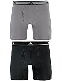 Men's Relaxed Performance Stretch Cotton Boxer Brief Underwear (2 Pack)