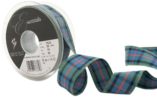 Scotland Tartan Ribbon - Berisfords 7622 25 m x 25 mm Traditional Tartan Ribbon, Flower of Scotland by Berisfords