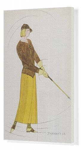 Canvas Print of Lady Golfer s Outfit from Mary Evans