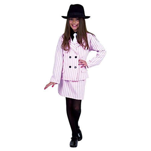 Child's Pink Gangster Moll Costume (Size:X-large -
