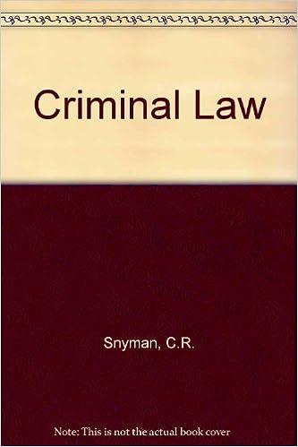 CRIMINAL LAW SNYMAN EPUB
