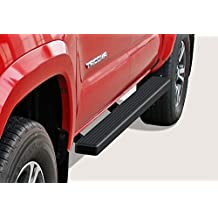 "Matte Black 4"" iBoard Running Boards 05-16 Toyota Tacoma Double/Crew Cab Nerf Bar Side Steps Tube Rail Bars Step Board"
