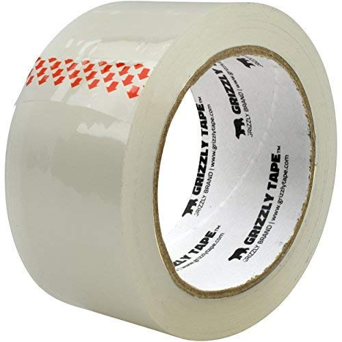 Grizzly Brand Clear Packing Tape Refill Rolls for Shipping, Moving, Packaging - True 2 inch x 65 Yards, 2.8mil Thick, 12 Rolls Photo #3