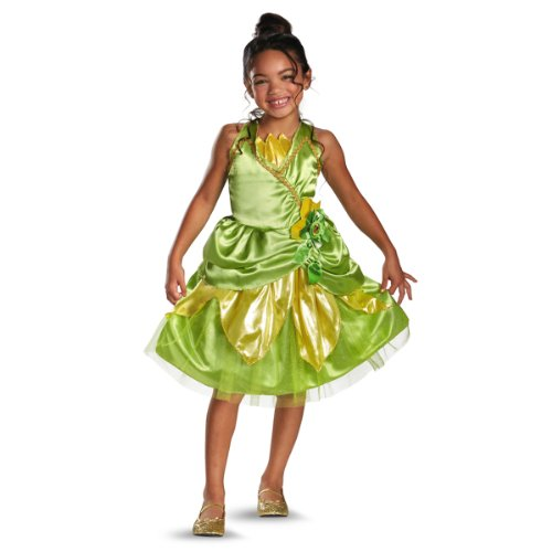 Disguise Disney's Princess and The Frog Tiana Sparkle Classic Girls Costume, 3T-4T