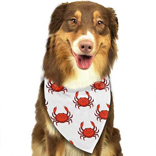 Dog Bandana Triangle Scarfs Puppy Bibs Accessories, Red Crab, for Dogs, Cats, Pet Birthday Party Gifts Supplies]()