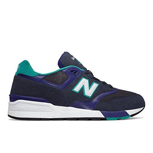 New Balance , Baskets pour homme bleu Bianco 43.0