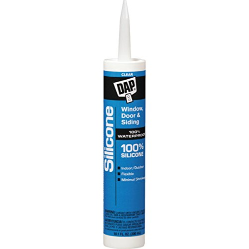 10.1 Oz DAP Window & Door 100% Silicone Rubber Sealant - Clear 12/Pk
