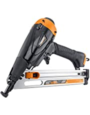 """Freeman PFN1564 Pneumatic 15-Gauge 34 Degree Angle 2-1/2"""" Finish Nailer Ergonomic and Lightweight Nail Gun with No-Mar Tip and Quick Jam Release for Moulding, Baseboards, Doors, Cabinetry, Furniture, Black"""