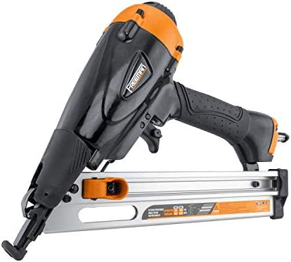 Freeman PFN1564 Pneumatic 15-Gauge 34 Degree Angle 2-1 2 Finish Nailer Ergonomic and Lightweight Nail Gun with No-Mar Tip and Quick Jam Release for Moulding, Baseboards, Doors, Cabinetry, Furniture