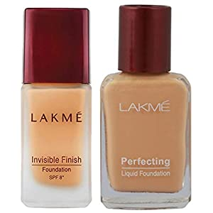 Lakme © Invisible Finish SPF 8 Foundation, Shade 01, 25ml And Lakme © Perfecting Liquid Foundation, Marble, 27ml