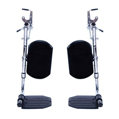 Invacare Corporation Wheelchair Hemi Elevating Legrest, Composite Foot Plates, WITHOUT HEEL LOOPS by Invacare Heel Wheelchair