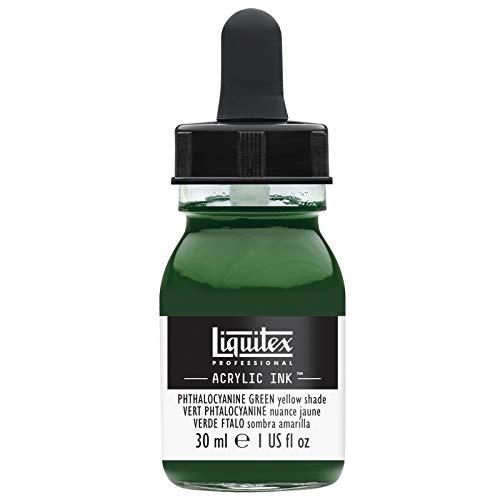 (Liquitex Professional Acrylic Ink 1-oz jar, Phthalocyanine Green (Yellow Shade))