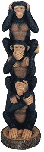 George S. Chen Imports Monkeys See Hear Speak No Evil Collectible Figurine Statue (Set Of 3)