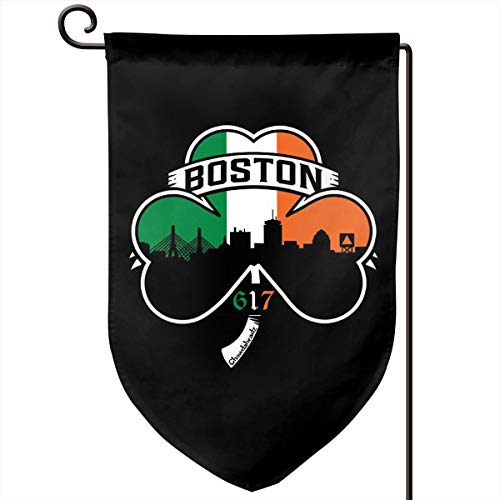 Foxdinner Boston Irish Shamrock Home Decoration Garden Flag 12.5 * 18 in (Double Side) Games Flag (Best Irish Pubs In Boston)