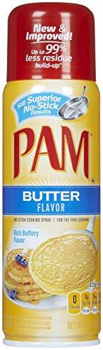Pam Butter Flavor Cooking Spray, 5 oz
