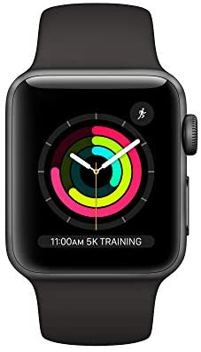 Apple Watch Series 3 (GPS, 38mm) - Space Gray Aluminium Case with Black Sport Band WeeklyReviewer