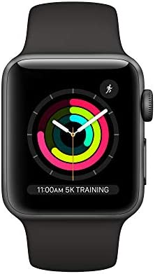 Apple Watch Series 3 (GPS, 38mm) - Space Gray Aluminum Case with Black Sport Band