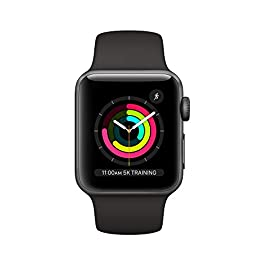AppleWatch Series3 (GPS, 38mm) – Space Gray Aluminum Case with Black Sport Band