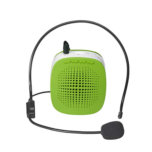 VORCOOL Portable Rechargeable Mini Voice Amplifier With Wired Microphone Headset and Waistband for Teachers, Singing, Coaches, Training, Presentation, Tour - Waistband Microphone Amplifier