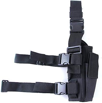 A//H Taktische Pistolentaschen Training Cosplay G/ürtelholster Schwarz Oberschenkelholster Halfter Taktische Linkes Beinholster Pistolenholster