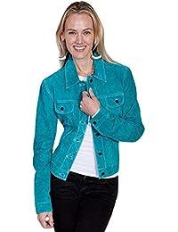 Women's Suede Denim-Style Jacket - L107-125