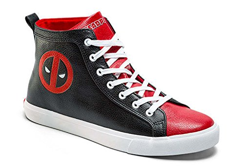 Marvel Deadpool Mens High Top Shoe Sneakers