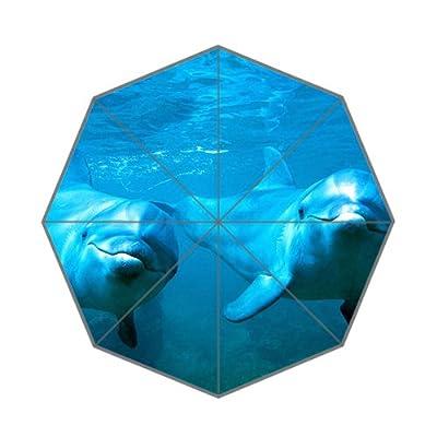 110,2x 65cm Lovely Dauphin Couple Parapluie