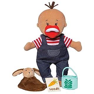 "Manhattan Toy Wee Baby Stella Tiny Farmer 12"" Soft Baby Doll Set"