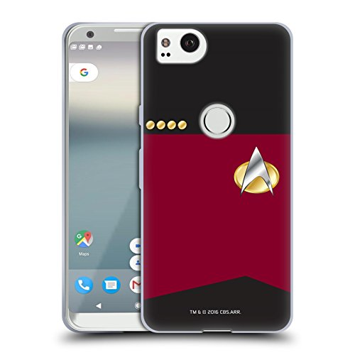 Official Star Trek Captain Uniforms and Badges TNG Soft Gel Case for Google Pixel 2]()